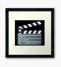 My life is a movie Framed Print