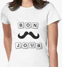 BONJOUR Scrabble Womens Fitted T-Shirt