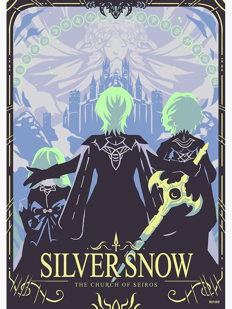 Silver Snow by SnipSnipArt