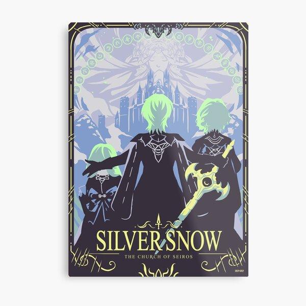 Silver Snow Metal Print