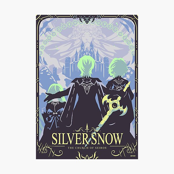 Silver Snow Photographic Print