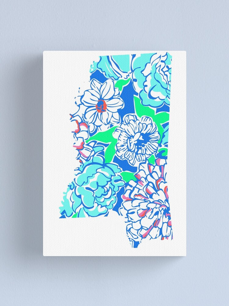 Alternate view of Lilly States - Mississippi Canvas Print