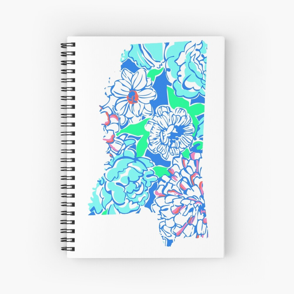 Lilly States - Mississippi Spiral Notebook