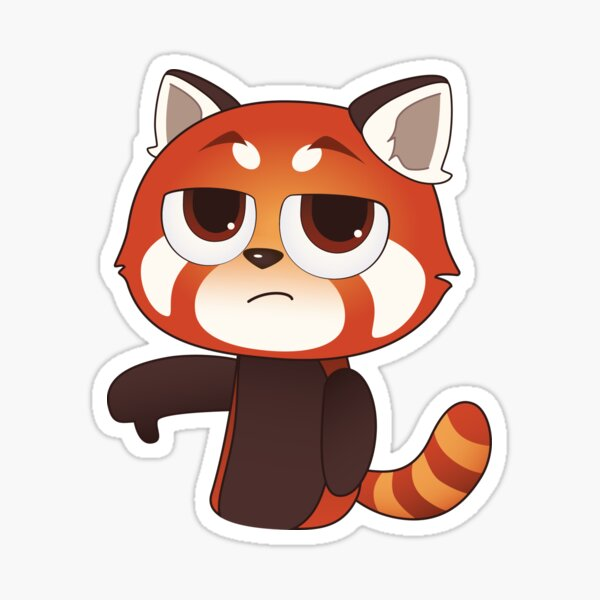 Thumbs Down Red Panda Sticker