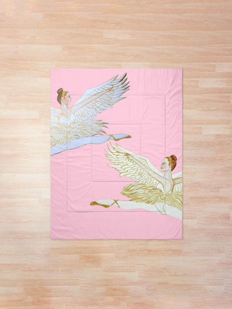 Alternate view of Christmas angel from the Nutcracker Ballet Comforter