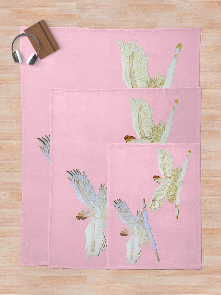 Alternate view of ballet angel from the Nutcracker Ballet Throw Blanket