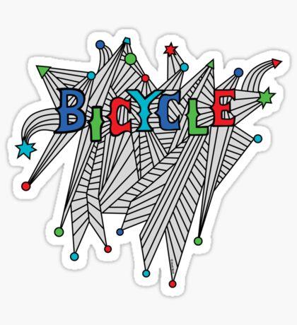 Bicycle Celebration Sticker