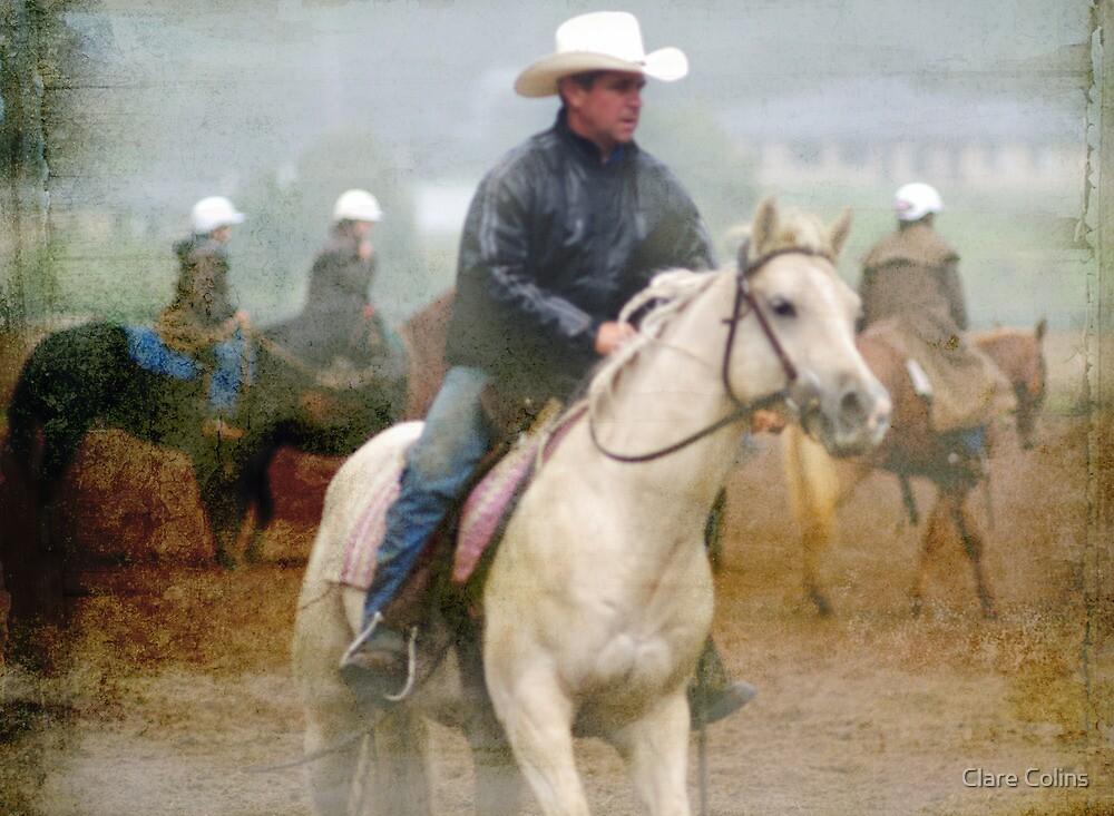 Rainy Day Cowboys II   by Clare Colins