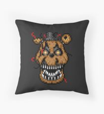 Five Nights at Freddys 4 - Nightmare Freddy - Pixel art Throw Pillow