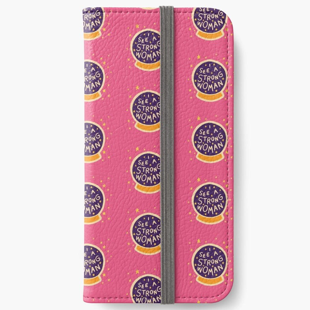 I see a strong woman iPhone Wallet