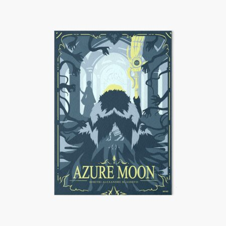 Azure Moon Art Board Print