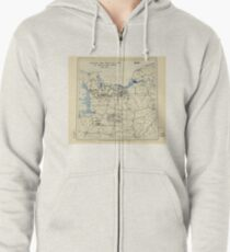 World War II Twelfth Army Group Situation Map July 27 1944 Zipped Hoodie