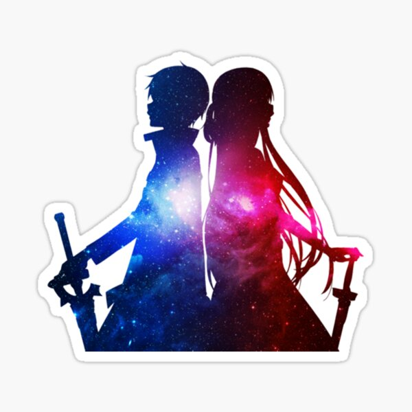 Épée Art Online - Asuna & Kirito Sticker