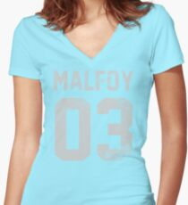 Malfoy jersey Women's Fitted V-Neck T-Shirt