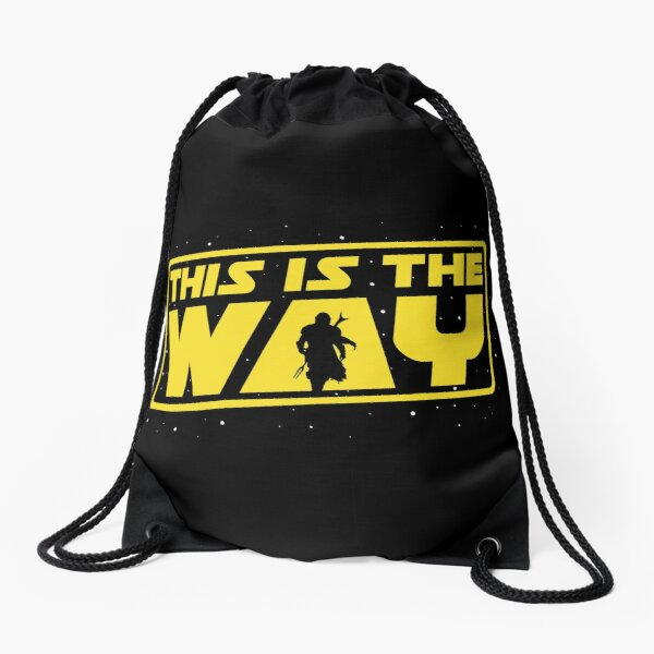 This is the Way Drawstring Bag