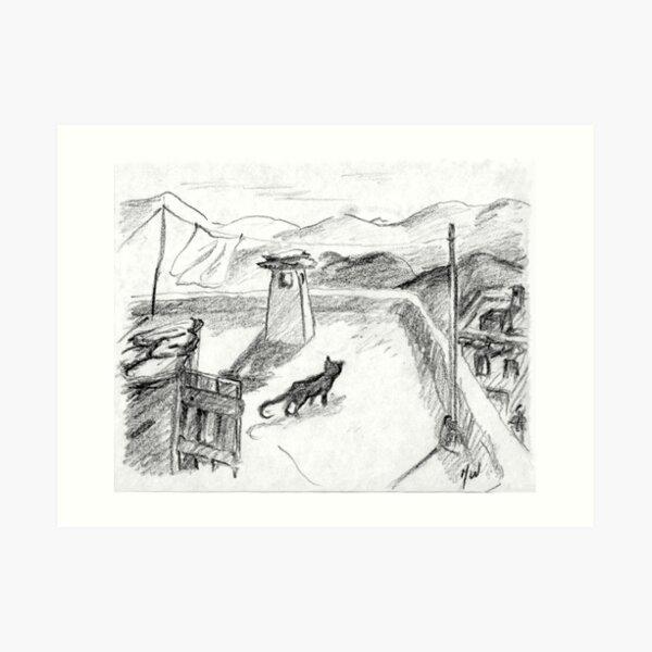 The Black Cat · Alpujarras · Sierra Nevada · Granada · Spain Art Print