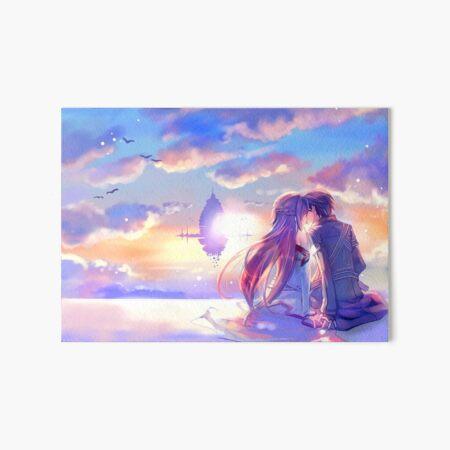 Best couple Asuna and Kirito Art Board Print