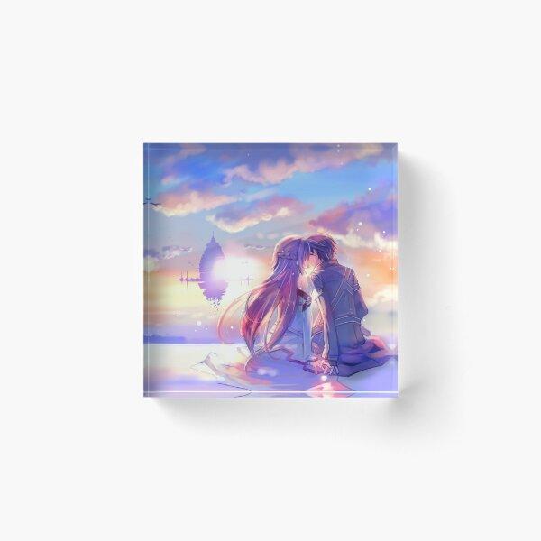 Best couple Asuna and Kirito Acrylic Block