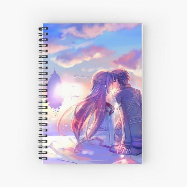 Best couple Asuna and Kirito Spiral Notebook