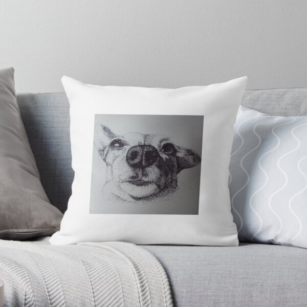 My Dotty Dog Throw Pillow