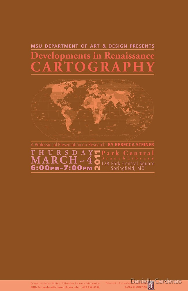 Renaissance Cartography Poster 2 by Danielle Cardenas