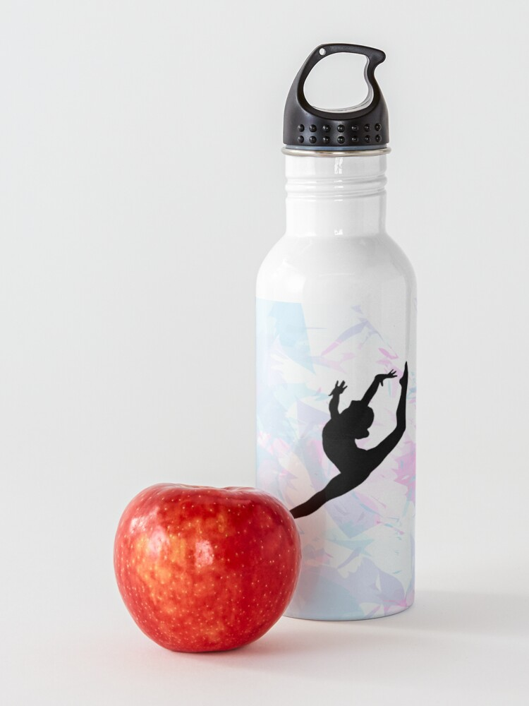 Alternate view of Water Colour Gymnastics Silhouette  Water Bottle