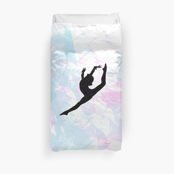 Silhouette de gymnastique de couleur de l'eau Housse de couette