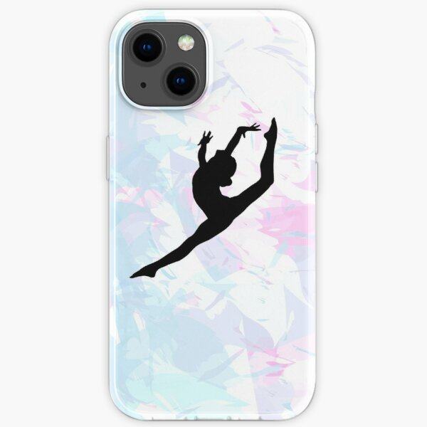 Water Colour Gymnastics Silhouette  iPhone Soft Case