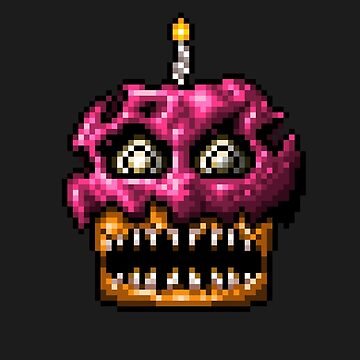 Five Nights at Freddys 4 - Nightmare Cupcake - Pixel art by GEEKsomniac