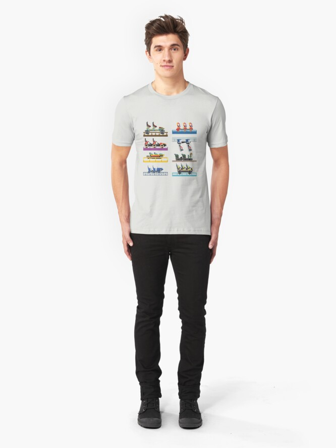 Alternate view of Busch Gardens Williamsburg Coaster Car Design Slim Fit T-Shirt