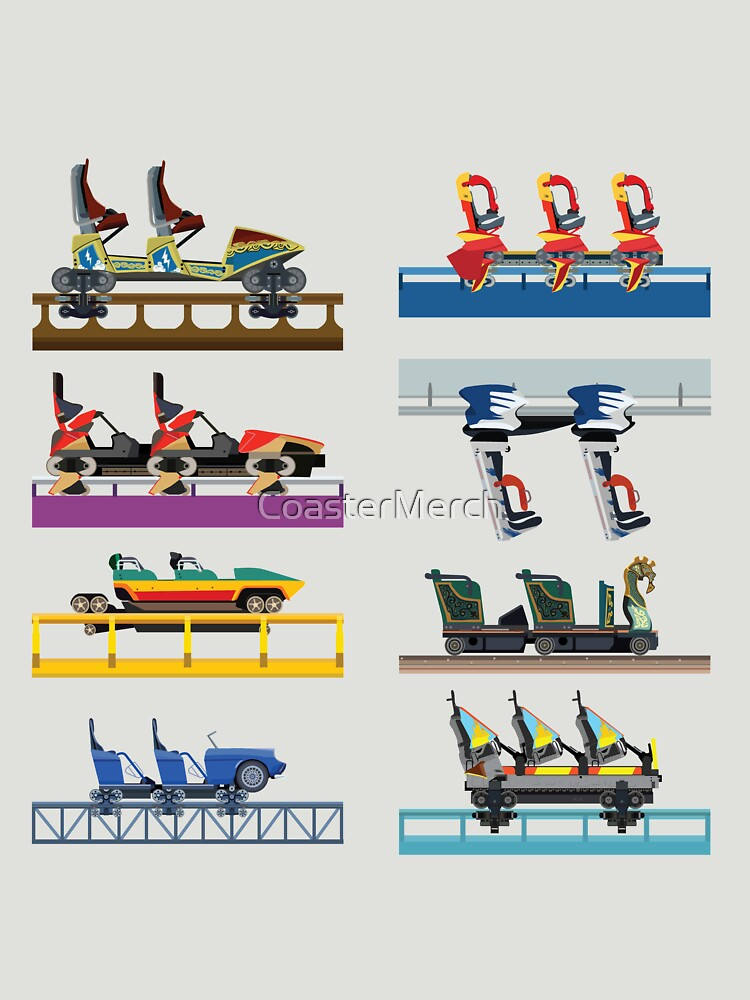 Busch Gardens Williamsburg Coaster Car Design by CoasterMerch
