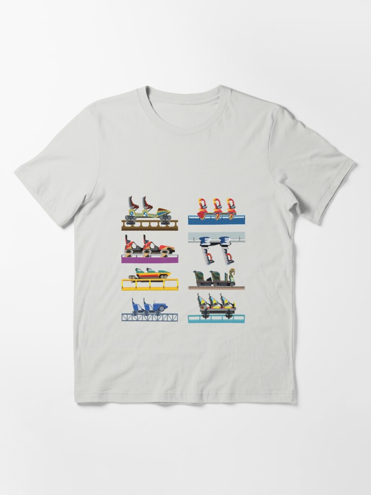 Alternate view of Busch Gardens Williamsburg Coaster Car Design Essential T-Shirt