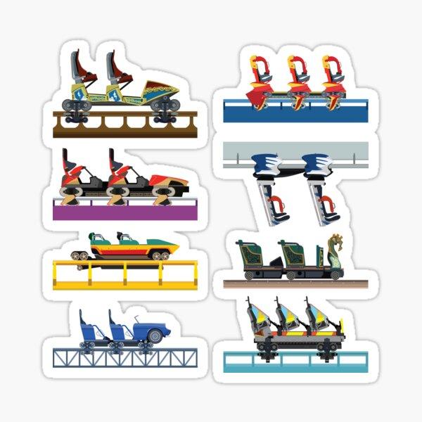 Busch Gardens Williamsburg Coaster Car Design Sticker