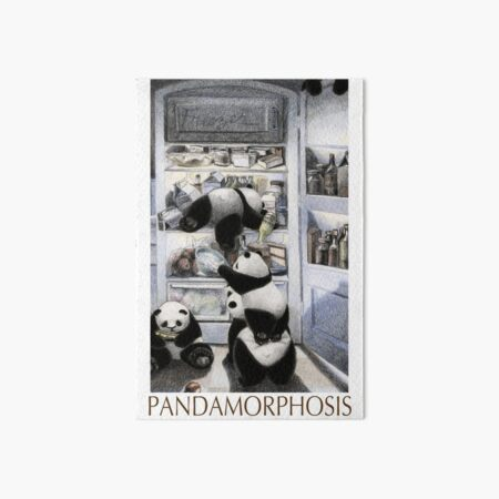 Pandas in the Fridge: Pandamorphosis Art Board Print
