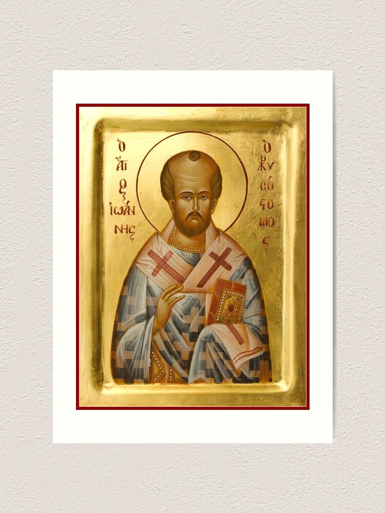 Alternate view of St John Chrysostom Art Print