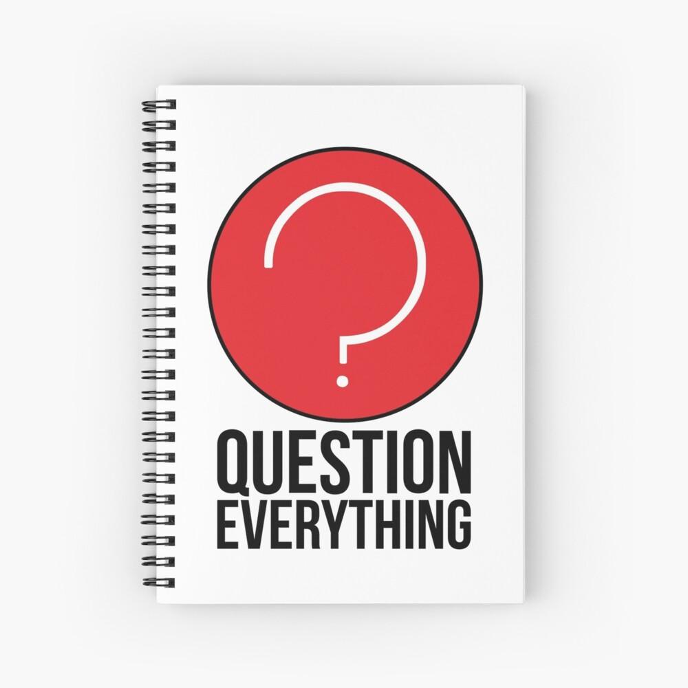 Pregunta todo en la vida Cuaderno de espiral