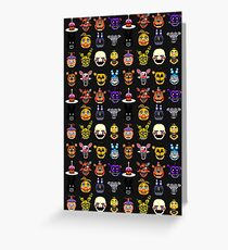 Five Nights at Freddy's - Pixel art - Multiple characters Greeting Card