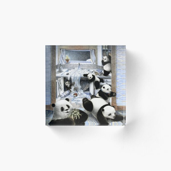 Pandas in the Kitchen? Acrylic Block