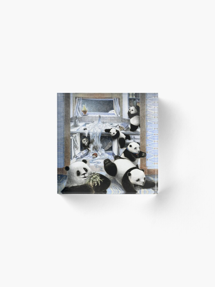 Alternate view of Pandas in the Kitchen? Acrylic Block