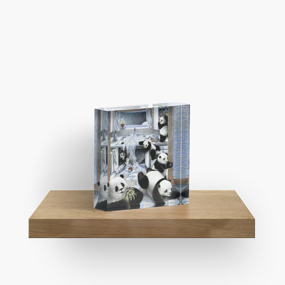 Pandas in the Kitchen? Acrylic Block