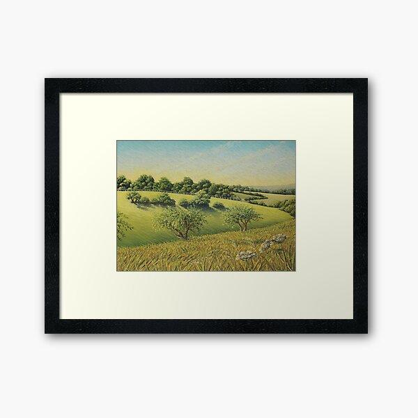 Early Evening Sun, Epsom Downs, Surrey Framed Art Print