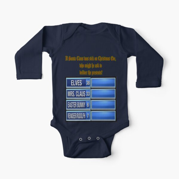 Replacement Santa Long Sleeve Baby One-Piece