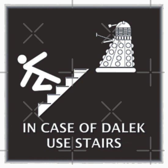 TShirtGifter presents: Dalek vs Stairs