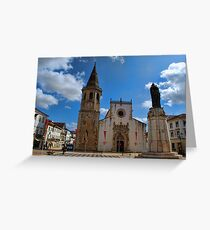 Church of Sao Joao Baptista in Tomar Greeting Card