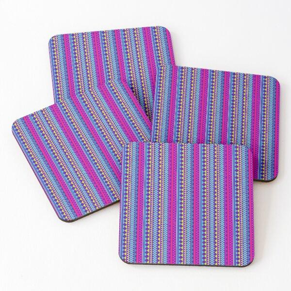 Neon Boho Coasters (Set of 4)