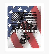 Honor Them-Marines Photographic Print
