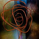 Abstract Rose Sculpture Reflections 3 by Cara Schingeck by Cara Schingeck