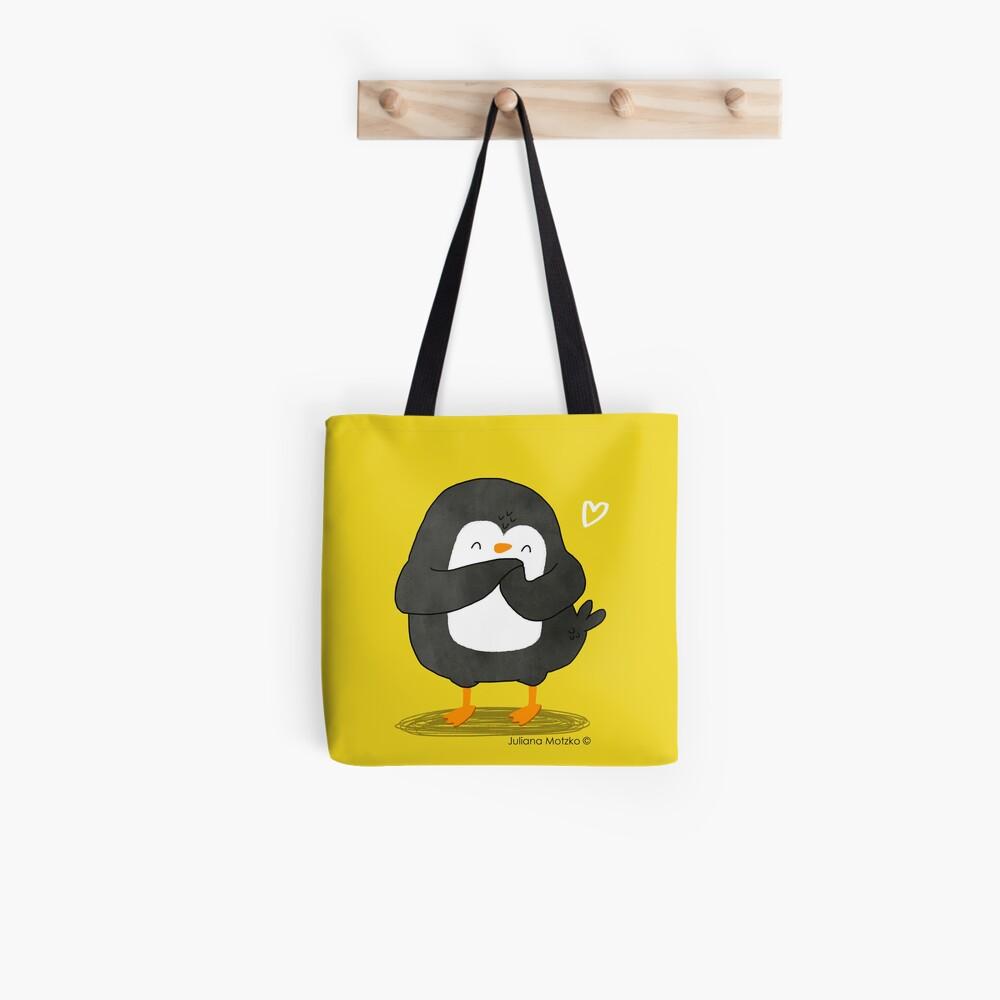 Penguin in Love Tote Bag
