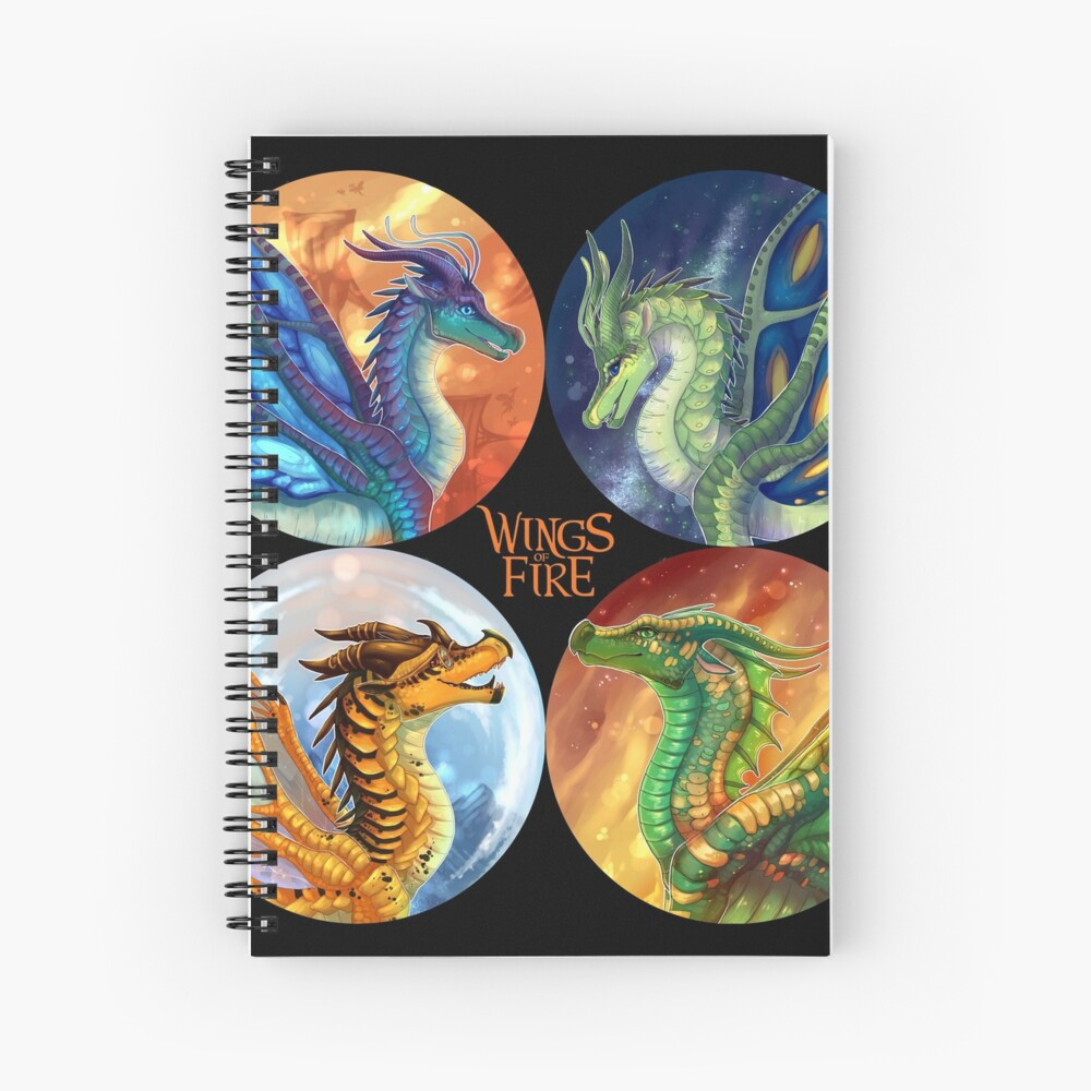 Wings of Fire - Heroes of the Lost Continent Spiral Notebook