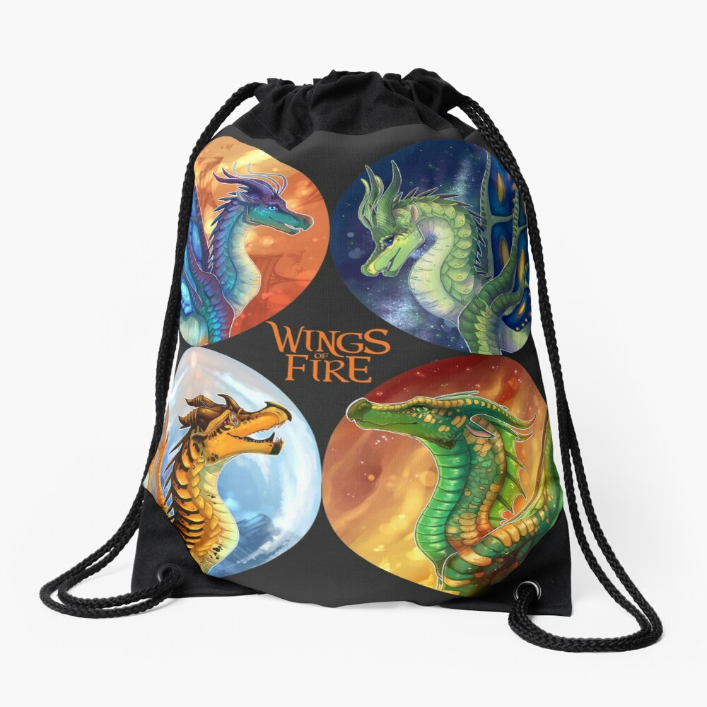 Wings of Fire - Heroes of the Lost Continent Drawstring Bag